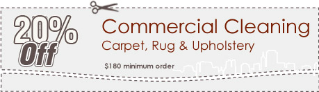 Cleaning Coupons | 20% off commercial cleaning | Queens Carpet Cleaning