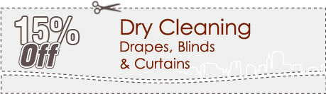 Cleaning Coupons | 15% off drapes, blinds and curtains | Queens Carpet Cleaning
