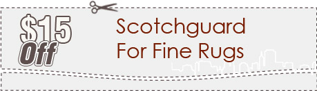 Cleaning Coupons | $15 off scotchguard for rugs | Queens Carpet Cleaning